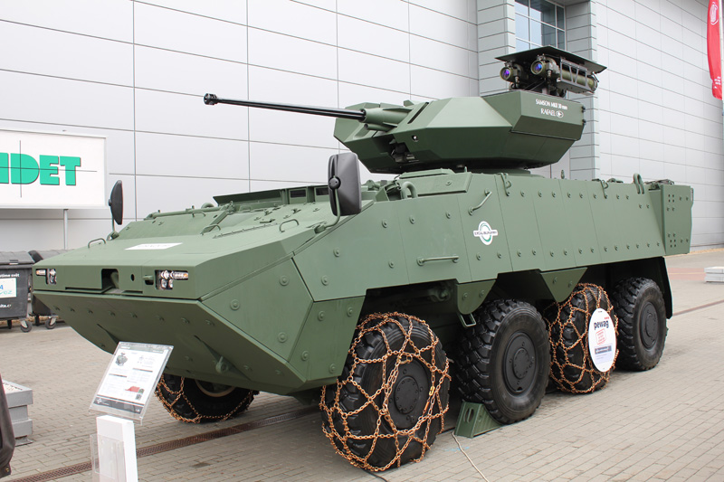 VICM 200 in the wheeled armoured personnel carrier PANDUR II manufactured by Excalibur Army