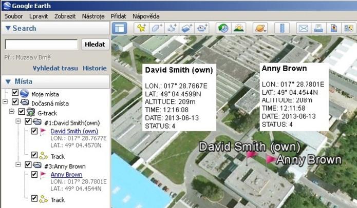 Navigation data - Blue Force Tracking