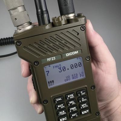 Handheld (RF23, RF20) and manpack (RF2305) transceivers