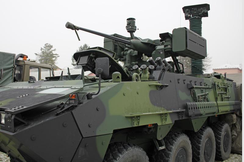 VICM 100 Digital Communication System in the PANDUR II vehicle